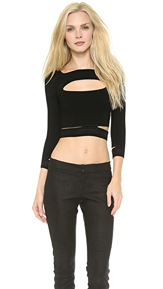 Cushnie et Ochs Knit Cropped Top