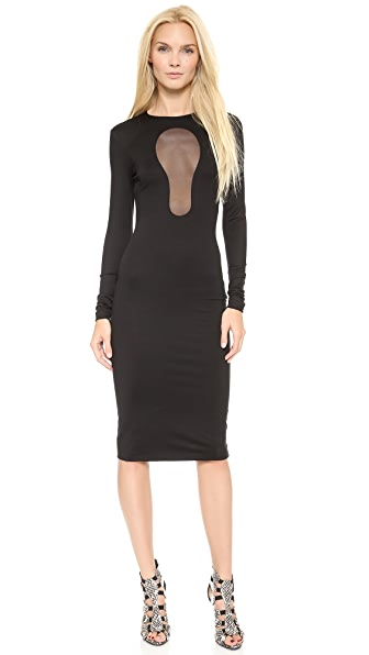 Cushnie et Ochs Jersey Cutout Sheath Dress