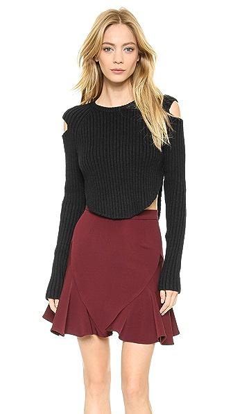 Cushnie et Ochs Cropped Rib Sweater