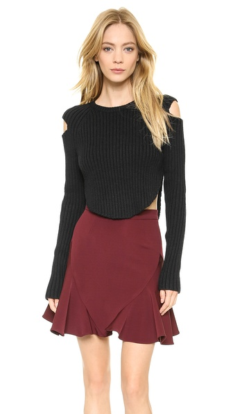 Cushnie et Ochs Cropped Rib Sweater