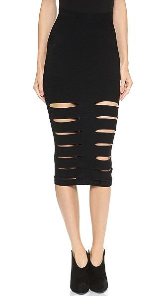 Cushnie et Ochs Slash Pencil Skirt