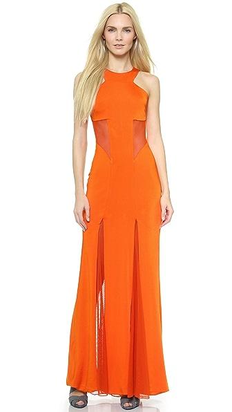 Kupi Cushnie et Ochs haljinu online i raspordaja za kupiti Cushnie Et Ochs Mesh Inset Jersey Gown Tangerine online