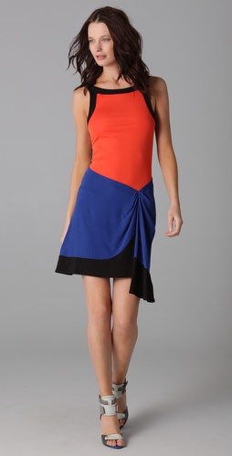 Cut25 by Yigal Azrouel Sleeveless Colorblock Dress with Cutout Back