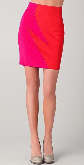 Cut25 by Yigal Azrouel Combo Knit Skirt