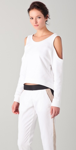 Cut25 by Yigal Azrouel Open Shoulder Sweatshirt