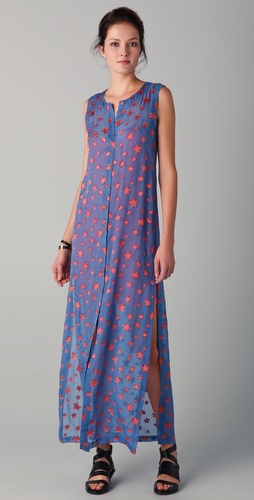 Cut25 by Yigal Azrouel Star Print Maxi Dress
