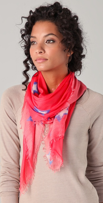 Cut25 by Yigal Azrouel Star Print Scarf
