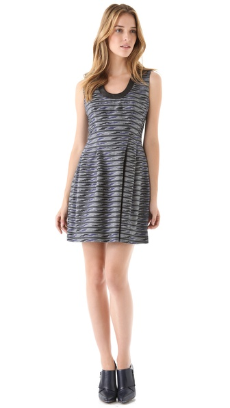 Cut25 by Yigal Azrouel Tribal Jacquard Dress