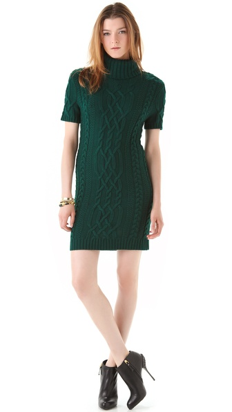 Cut25 by Yigal Azrouel Cable Knit Sweater Dress