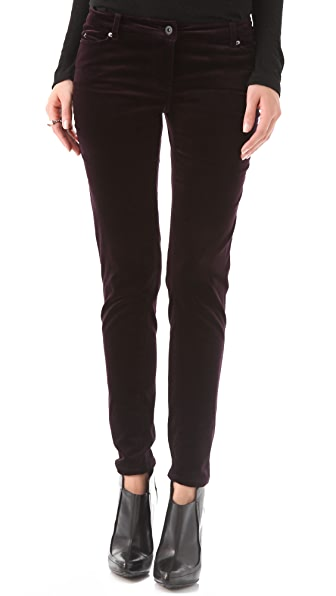 Cut25 by Yigal Azrouel Velvet Skinny Trousers
