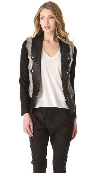 Cut25 by Yigal Azrouel Fur and Leather Jacket