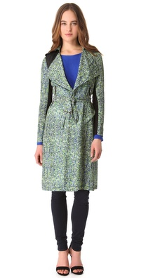 Cut25 by Yigal Azrouel Little Strokes Trench Coat