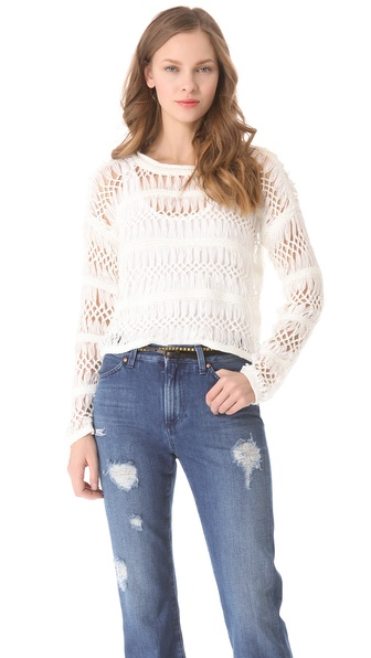 Cut25 by Yigal Azrouel Open Macrame Sweater