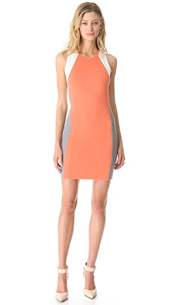 Cut25 by Yigal Azrouel Raised Knit Techno Dress