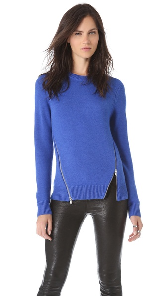 Cut25 by Yigal Azrouel Zipper Detail Sweater