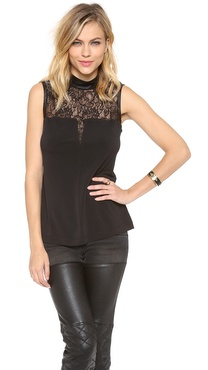 Cut25 by Yigal Azrouel Lace Yoke Tank