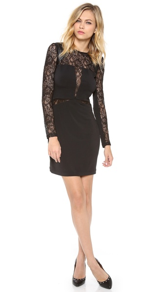 Cut25 by Yigal Azrouel Lace Combo Jersey Dress