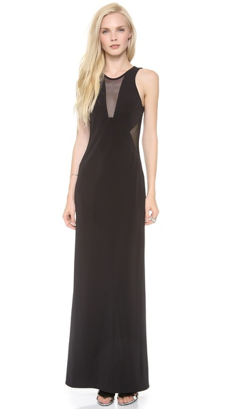 Cut25 by Yigal Azrouel Mesh Insert Gown