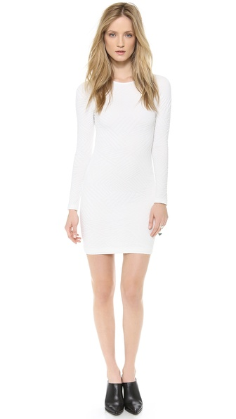 Cut25 by Yigal Azrouel Engineered Jacquard Knit Dress