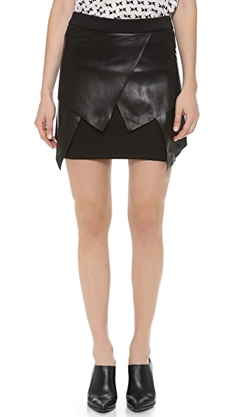 Cut25 by Yigal Azrouel Multi Layer Scuba Skirt