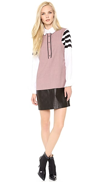 Creatures of the Wind High Collar Shirtdress