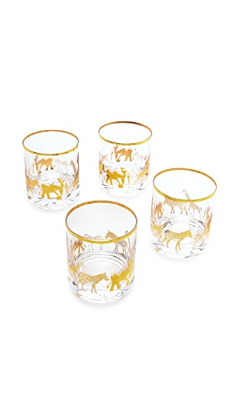C. Wonder Short Animal Parade Drinking Glass Set