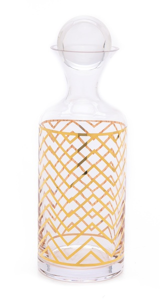 C. Wonder Chevron Decanter - Gold