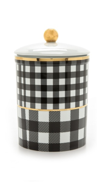 C. Wonder Buffalo Check Cookie Jar - Black/White