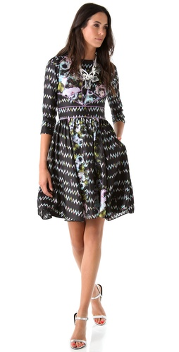 Cynthia Rowley Zigzag Floral Dress