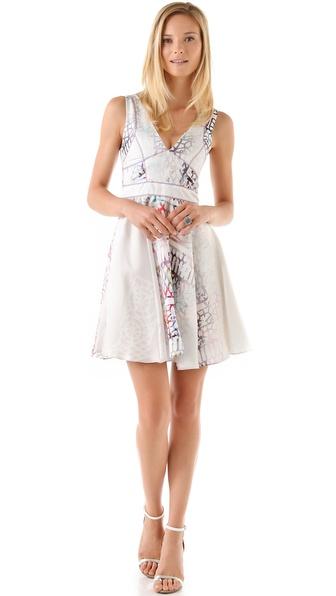 Cynthia Rowley Spectral Lattice Print Dress