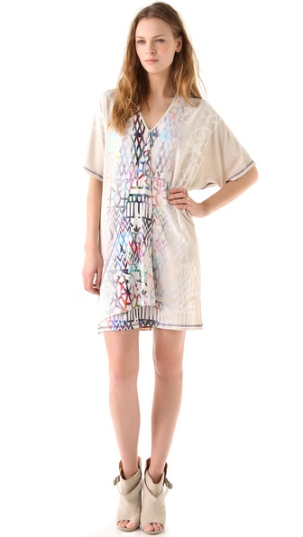 Cynthia Rowley Spectral Lattice Print Dress