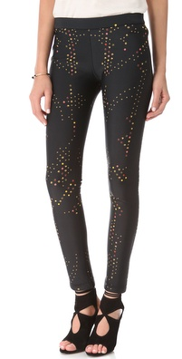 Cynthia Rowley Dot Neoprene Leggings