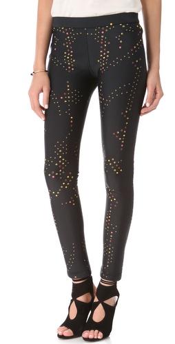 Cynthia Rowley Dot Neoprene Leggings