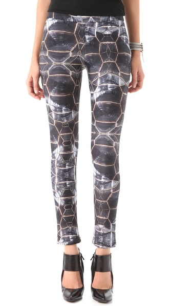 Cynthia Rowley Olive Tortoise Leggings
