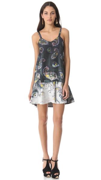 Cynthia Rowley Bleached Paisley Slip Dress