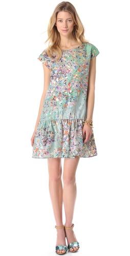 Cynthia Rowley Confetti Drop Waist Dress