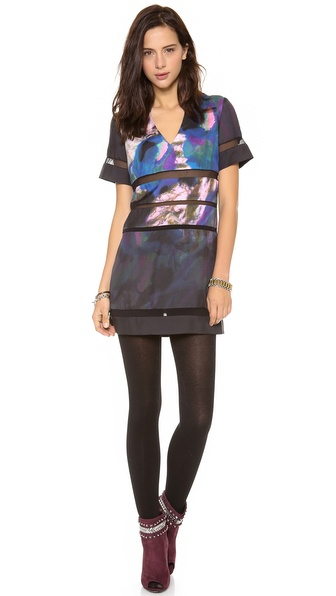 Cynthia Rowley Mesh Combo Dress