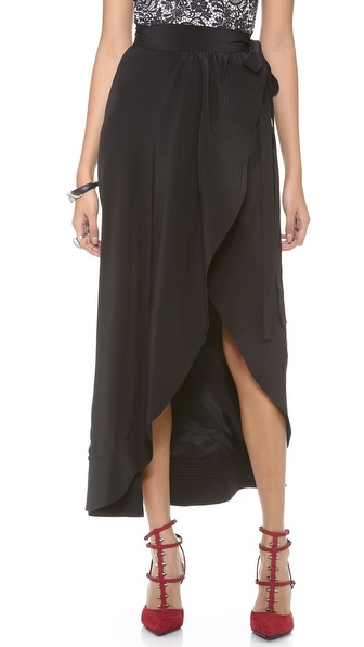 Cynthia Rowley Long Wrap Skirt