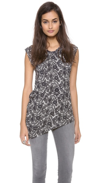 Cynthia Rowley Cap Sleeve Top