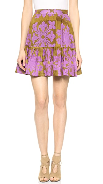 Cynthia Rowley Ruffle Bottom Skirt