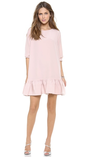 Cynthia Rowley Long Sleeve Flounce Dress - Light Pink