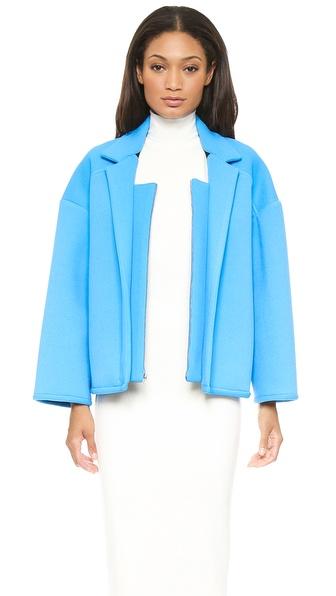 Cynthia Rowley Bonded Pique Oversized Jacket
