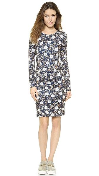 Kupi Cynthia Rowley haljinu online i raspordaja za kupiti Cynthia Rowley Bonded Long Sleeve Sheath Dress Gilded Brocade Teal online