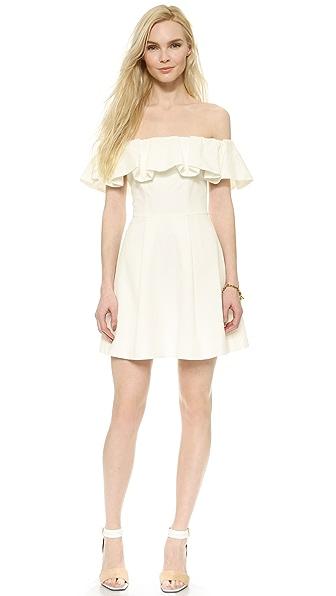 Kupi Cynthia Rowley haljinu online i raspordaja za kupiti Cynthia Rowley Off Shoulder Ruffle Dress - White online