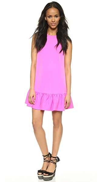 Shop Cynthia Rowley online and buy Cynthia Rowley Sleeveless Ruffle Dress Hot Pink dresses online