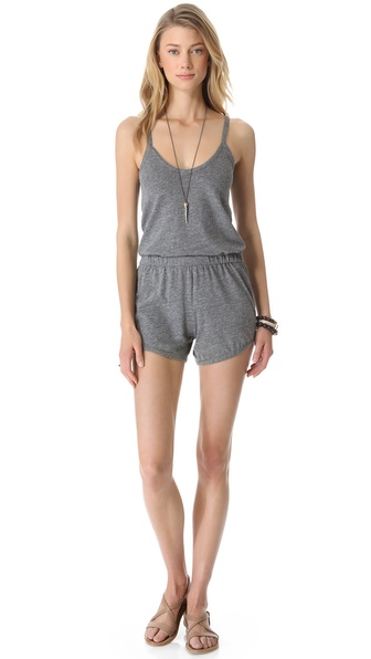 Daftbird Gathered Waist Romper