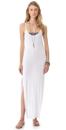 Daftbird Side Slit Maxi Dress