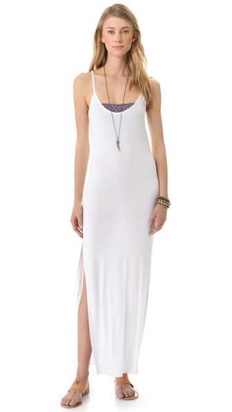 Daftbird Side Slit Maxi Dress