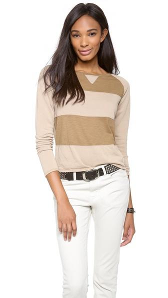 Daftbird Fabric Block Stripe Sweatshirt