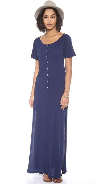 Daftbird Deep Henley Maxi Dress